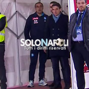 Sarri espulso segue la partita dal tunnel